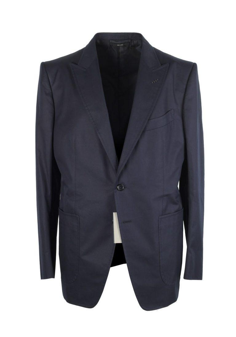 TOM FORD O'Connor Blue Suit Size 52 / 42R U.S. Cotton Fit Y - thumbnail   Costume Limité