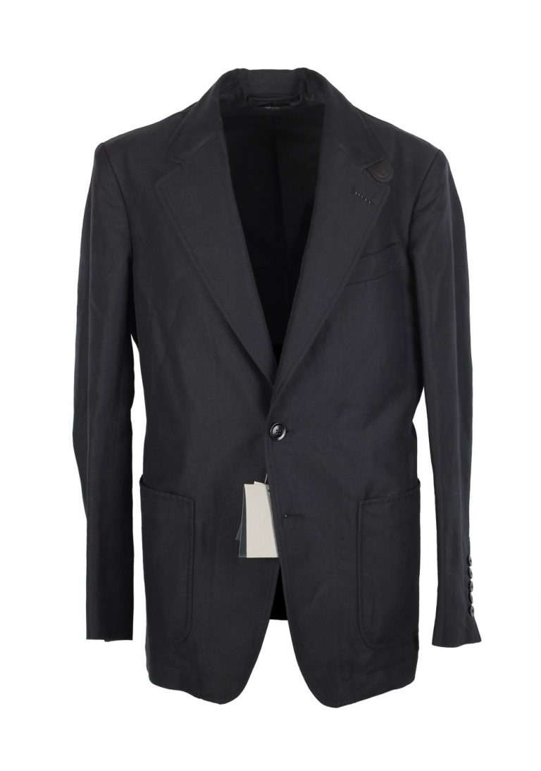 TOM FORD Black Blouson Jacket Coat Size 56 / 46R U.S. Outerwear - thumbnail | Costume Limité