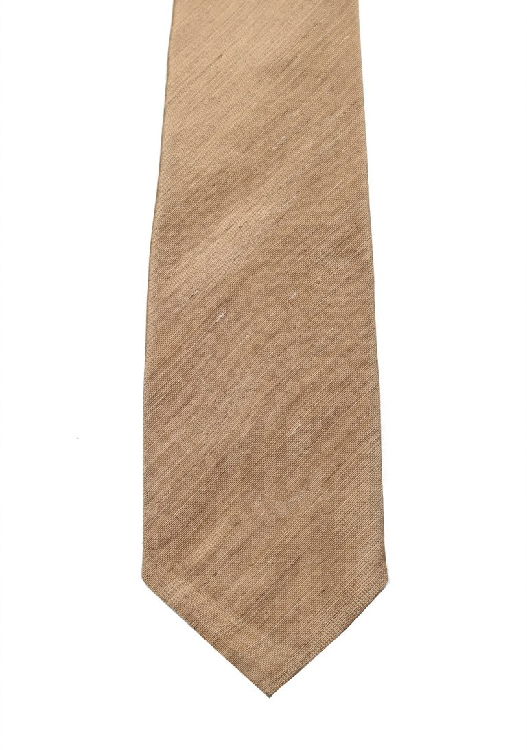 TOM FORD Solid Beige Tie In Silk - thumbnail | Costume Limité