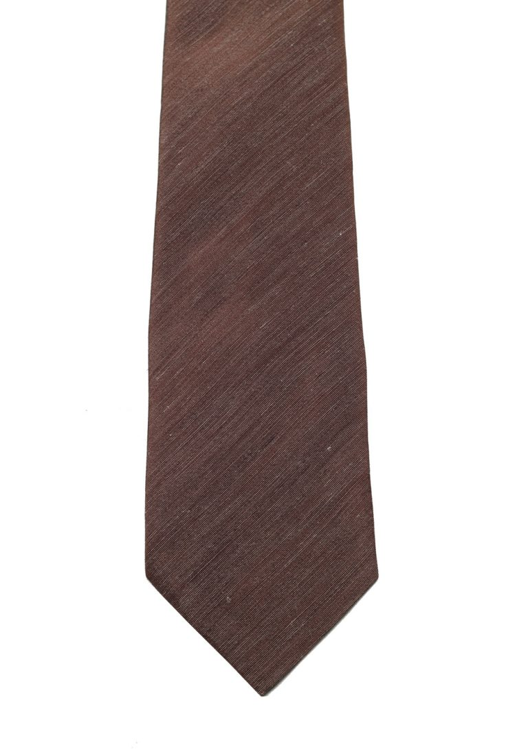 TOM FORD Solid Brown Tie In Silk - thumbnail | Costume Limité
