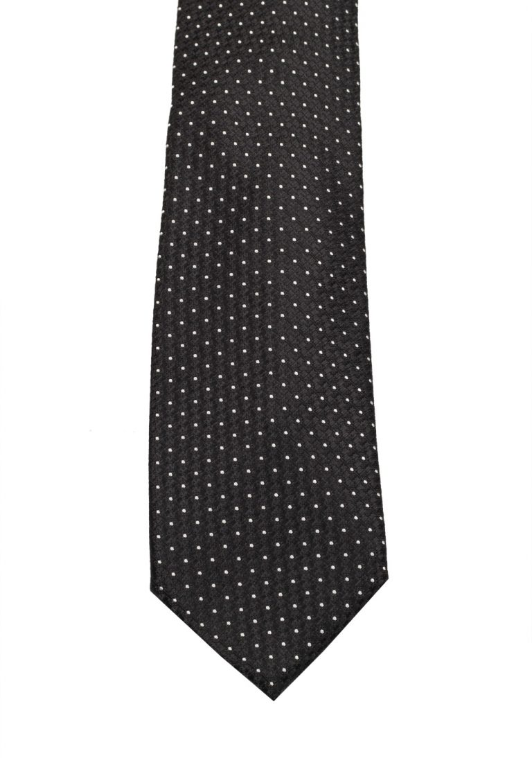 TOM FORD Patterned Black Tie In Silk - thumbnail | Costume Limité