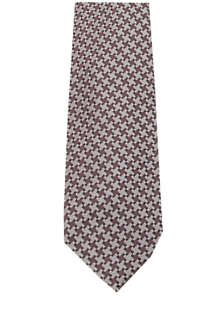 TOM FORD Patterned Purple Tie In Silk - thumbnail | Costume Limité