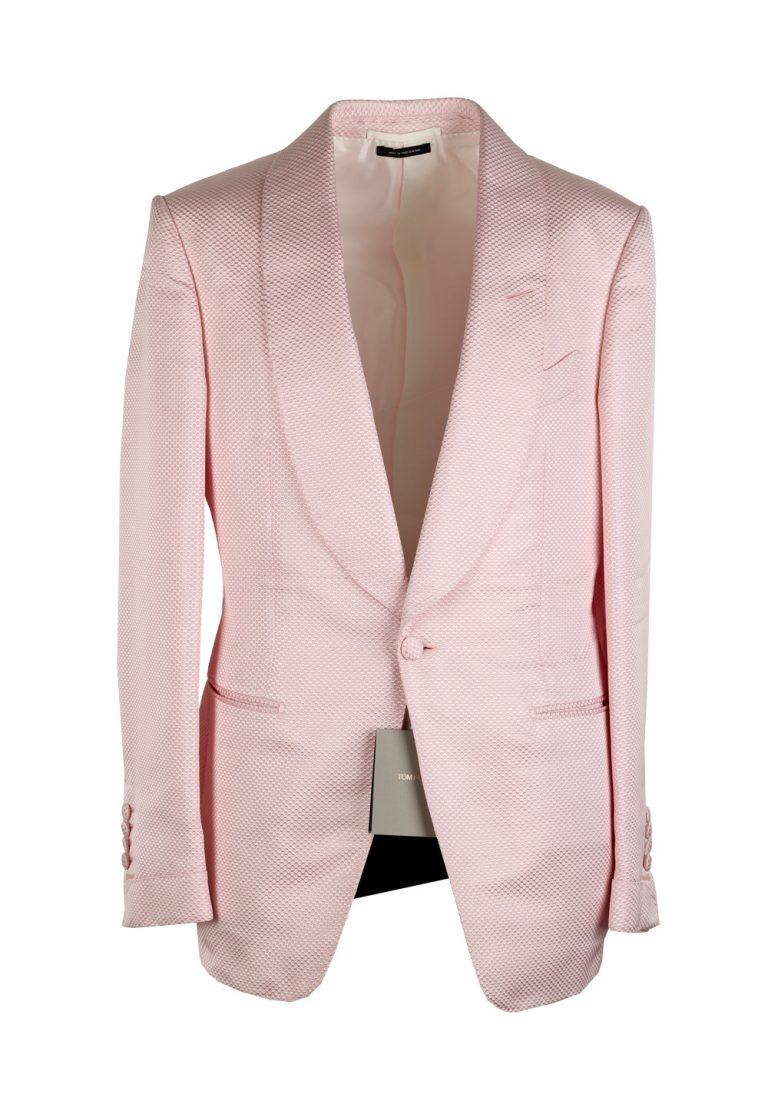 TOM FORD Shelton Pink Shawl Collar Sport Coat Tuxedo Dinner Jacket Size 48 / 38R U.S. - thumbnail | Costume Limité