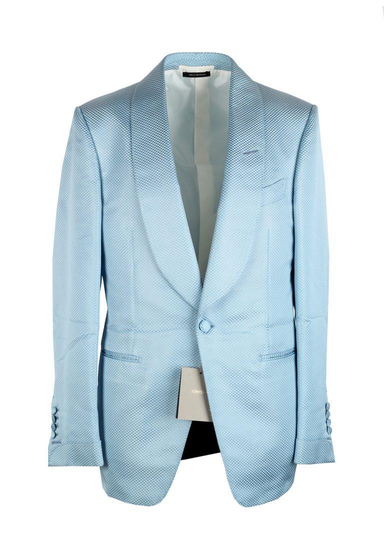 TOM FORD Shelton Blue Shawl Collar Sport Coat Tuxedo Dinner Jacket Size 48 / 38R U.S. - thumbnail | Costume Limité