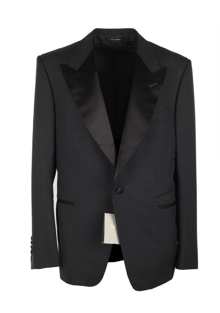 TOM FORD Windsor Black Tuxedo Suit Size 52C / 42S U.S. Fit A - thumbnail | Costume Limité