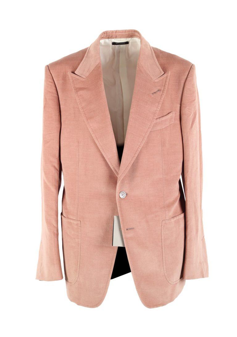 TOM FORD Shelton Velvet Salmon Sport Coat Size 52 / 42R U.S. In Cotton Linen - thumbnail | Costume Limité