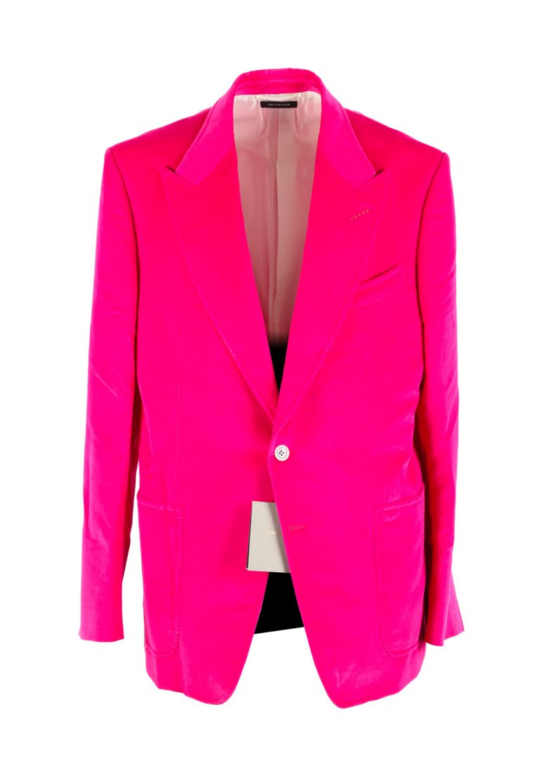 TOM FORD Shelton Velvet Pink Sport Coat Size 54 / 44R U.S. In Cotton Linen - thumbnail | Costume Limité
