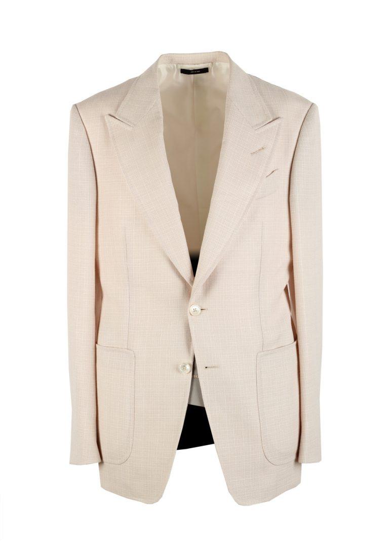 TOM FORD Shelton Off White Sport Coat Size 48 / 38R U.S. Wool Linen Mohair - thumbnail | Costume Limité