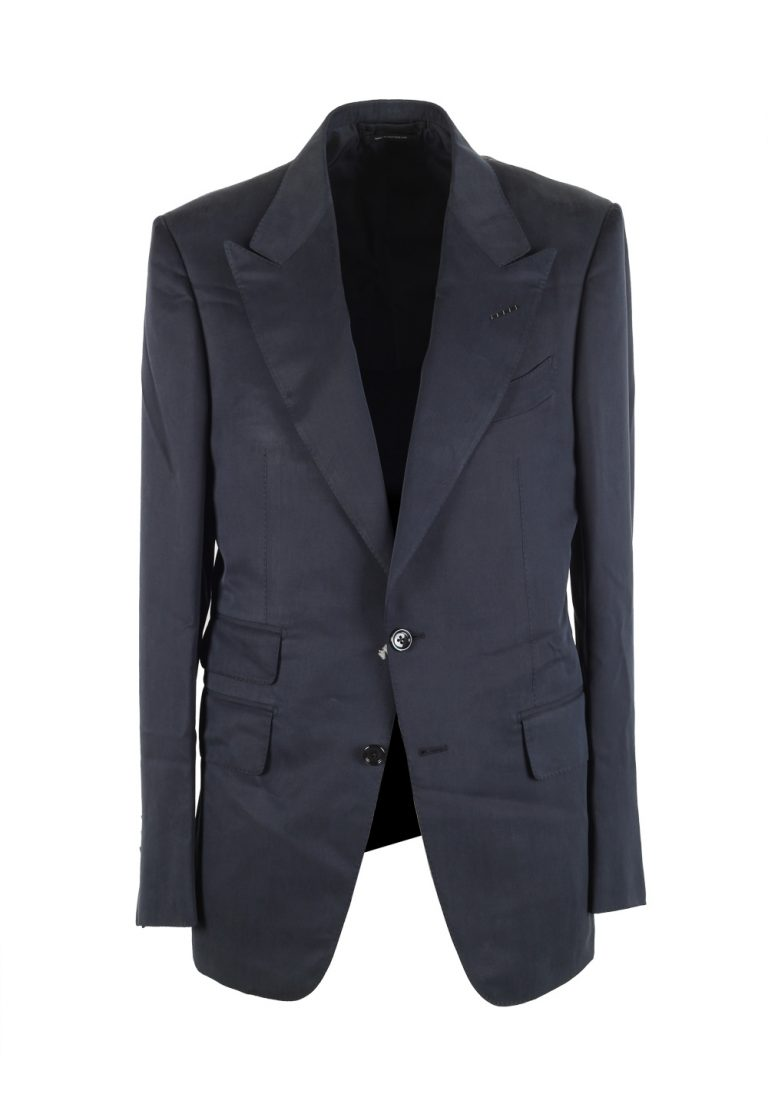 TOM FORD Shelton Blue Sport Coat Size 48 / 38R U.S. In Silk - thumbnail | Costume Limité