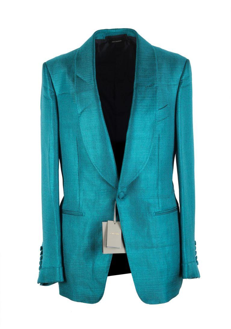 TOM FORD Shelton Turquoise Shawl Collar Sport Coat Tuxedo Dinner Jacket Size 48 / 38R U.S. - thumbnail | Costume Limité