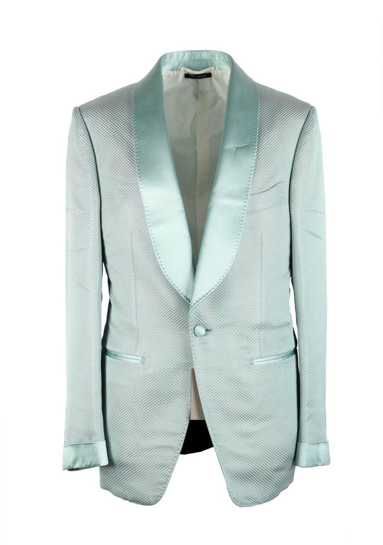 TOM FORD Shelton Mint Shawl Collar Sport Coat Tuxedo Dinner Jacket Size 46 / 36R U.S. - thumbnail | Costume Limité