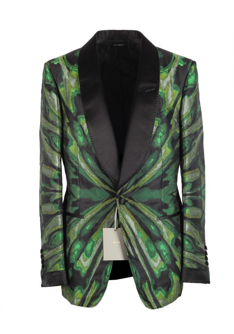TOM FORD Shelton Green Shawl Collar Sport Coat Tuxedo Dinner Jacket Size 48 / 38R U.S. - thumbnail | Costume Limité