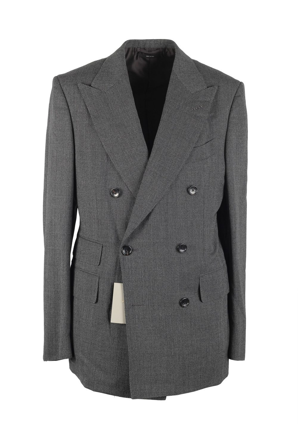 TOM FORD Shelton Gray Double Breasted Suit Size 48 / 38R U.S. In Wool | Costume Limité