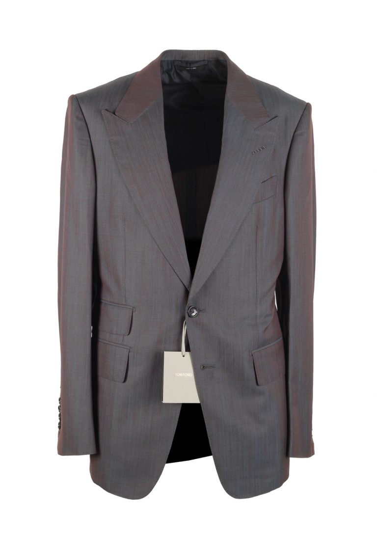 TOM FORD Shelton Blue Suit Size 48 / 38R U.S. In Wool Silk - thumbnail | Costume Limité