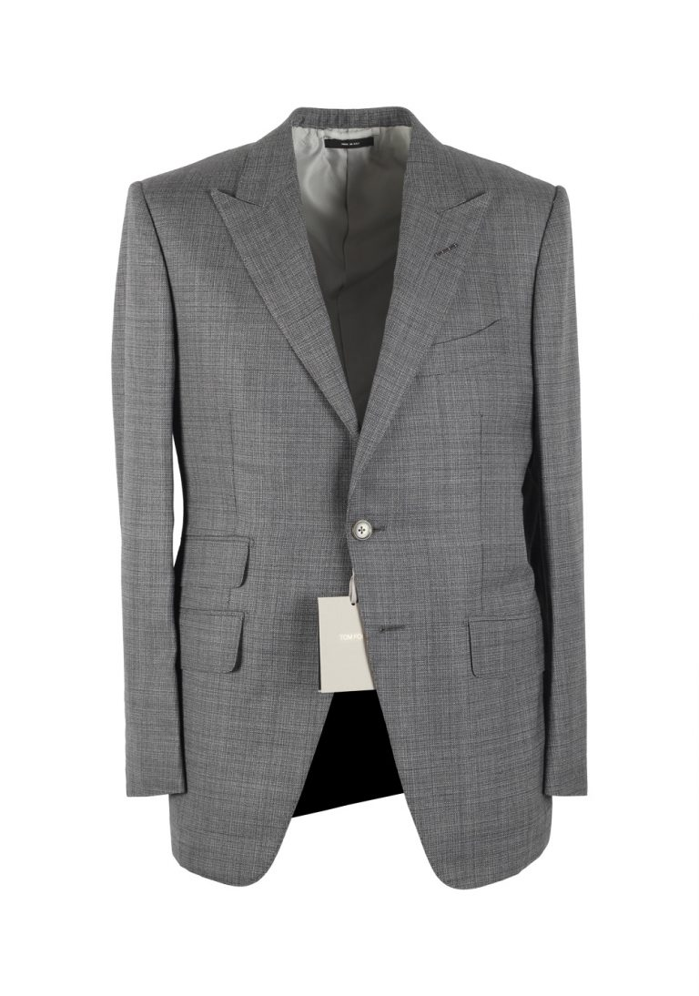 TOM FORD O'Connor Gray Suit Size 48C / 38S U.S. Wool Silk Fit Y - thumbnail | Costume Limité