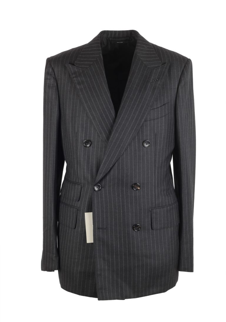 TOM FORD Shelton Brown Double Breasted Suit Size 48 / 38R U.S. In Wool Silk - thumbnail | Costume Limité
