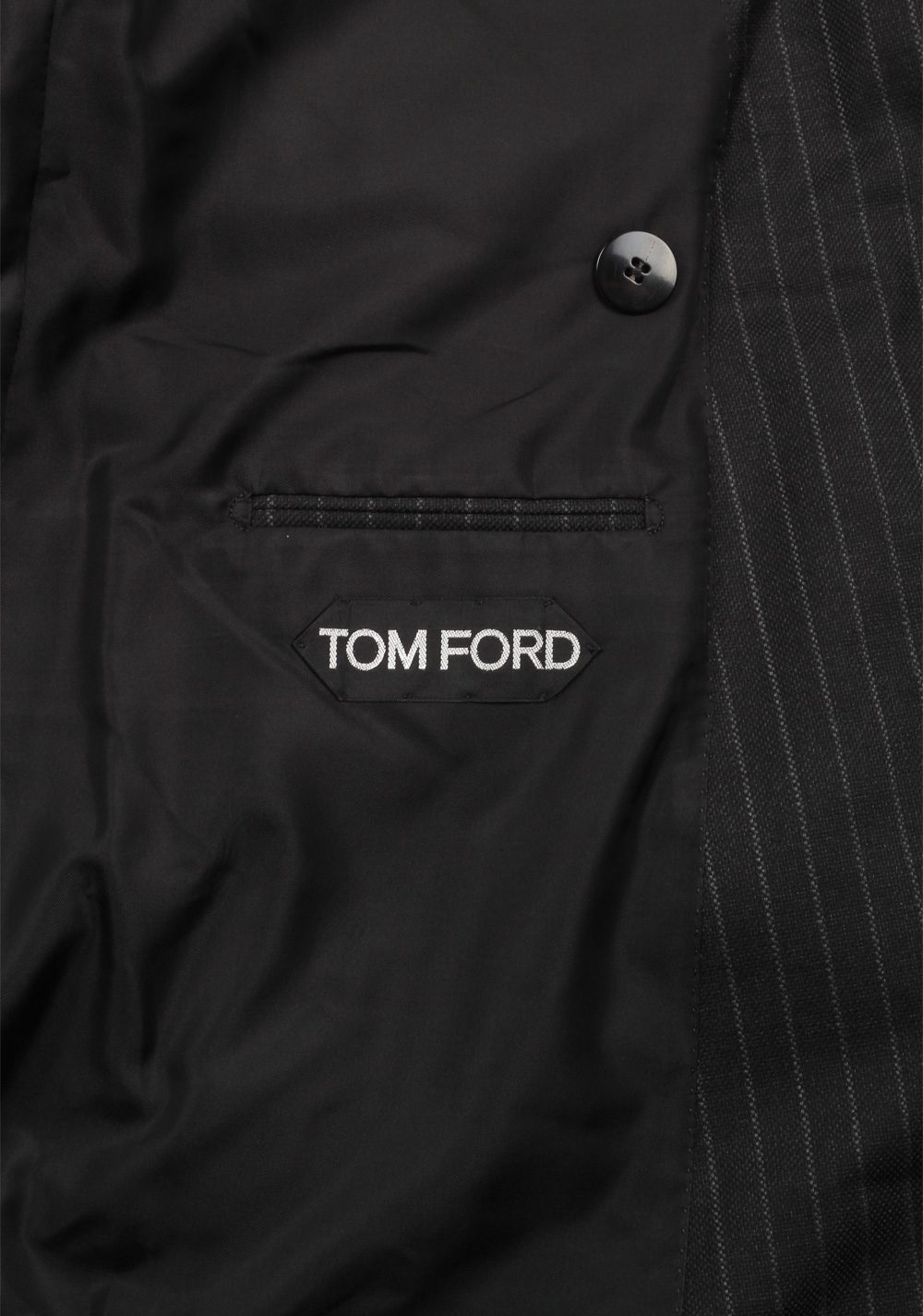 TOM FORD Shelton Brown Double Breasted Suit Size 48 / 38R U.S. In Wool Silk | Costume Limité