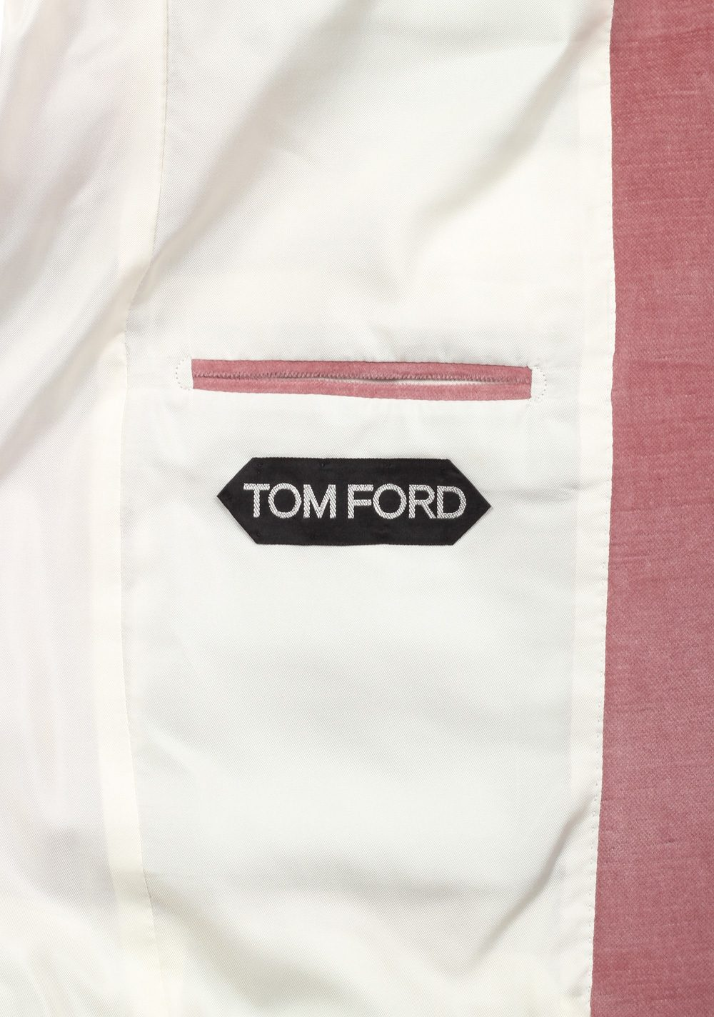 TOM FORD Shelton Pink Velvet Suit Size 48 / 38R U.S. In Cotton Linen | Costume Limité