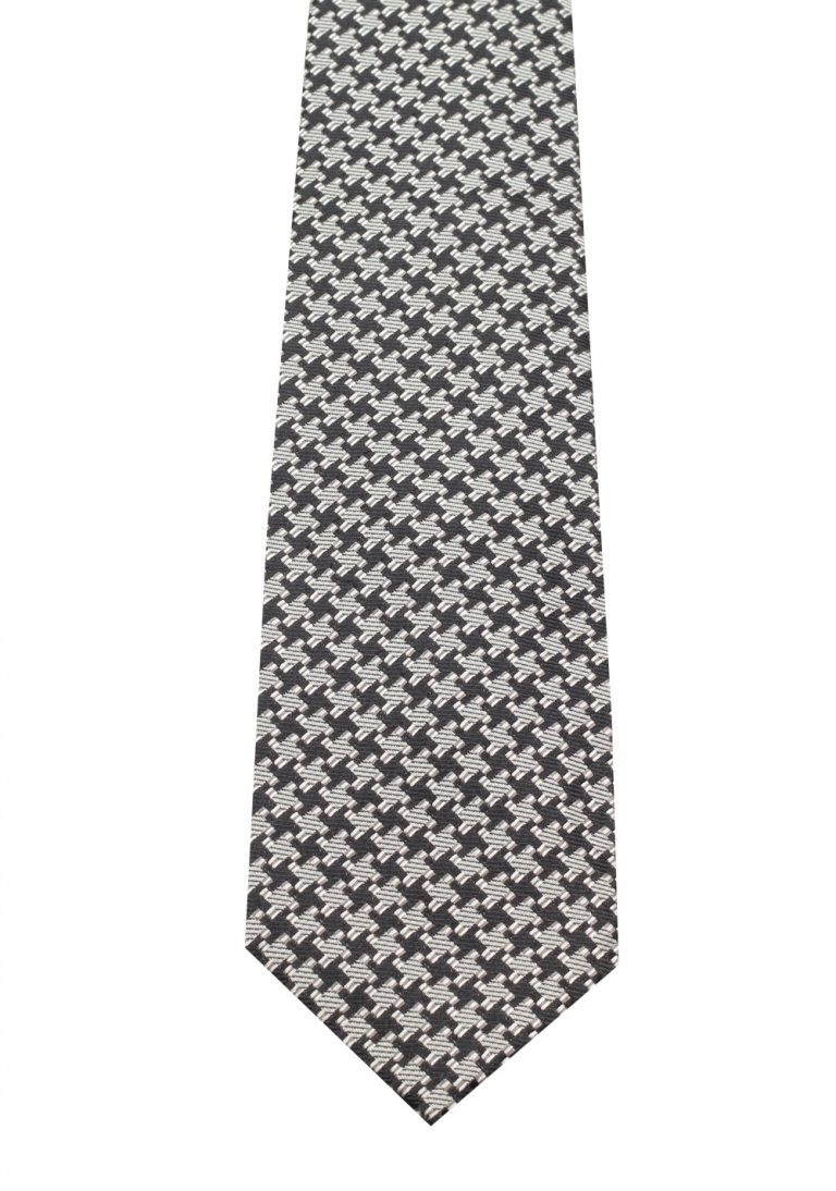 TOM FORD Patterned Black White Tie In Silk - thumbnail | Costume Limité