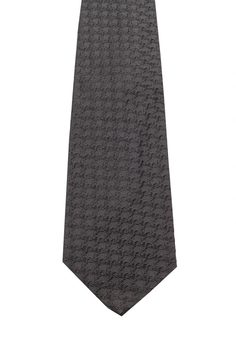 TOM FORD Patterned Gray Tie In Silk - thumbnail   Costume Limité