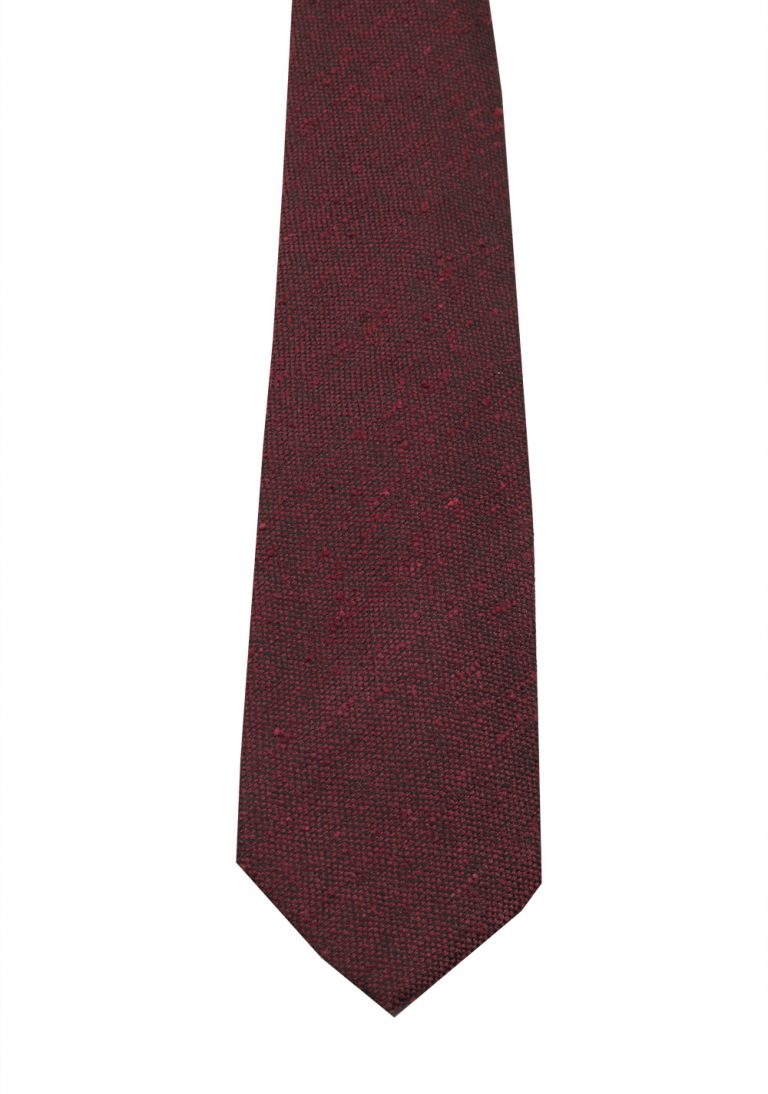 TOM FORD Patterned Burgundy Tie In Silk - thumbnail | Costume Limité