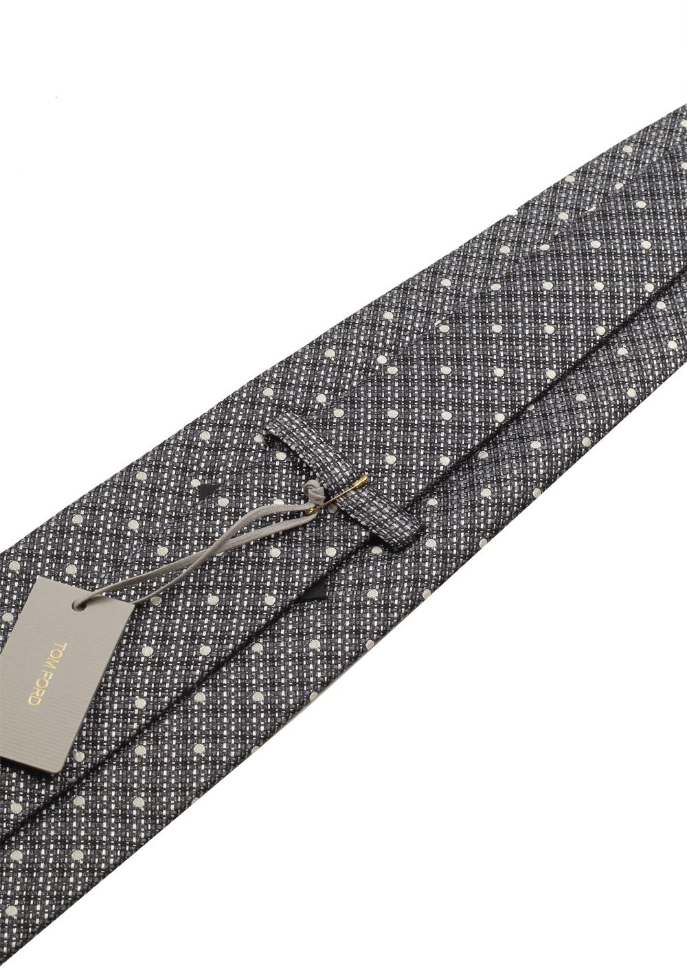 TOM FORD Patterned Gray Tie In Silk | Costume Limité