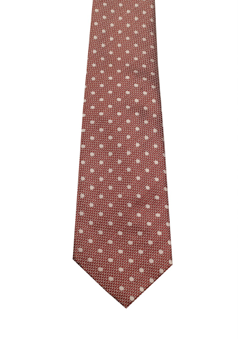 TOM FORD Patterned Burgundy Tie In Silk | Costume Limité