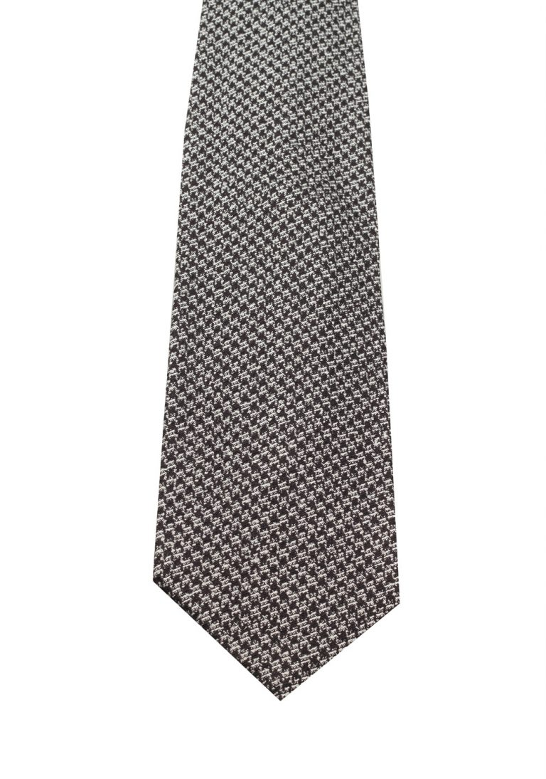 TOM FORD Patterned Black White Tie In Silk - thumbnail   Costume Limité