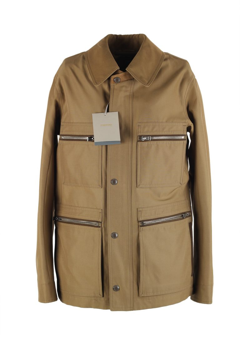 TOM FORD Beige Military Safari Jacket Size 48 / 38R U.S. - thumbnail | Costume Limité