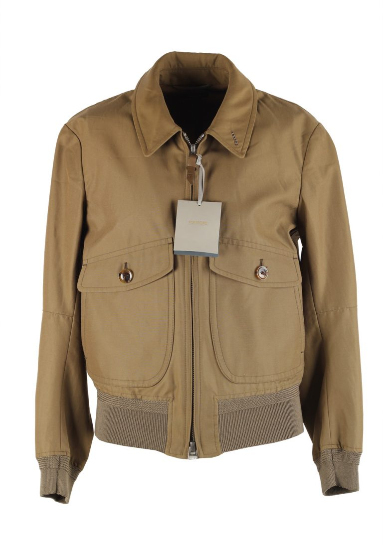 TOM FORD Brown Zipper Bomber Jack Size 48 / 38R U.S. - thumbnail | Costume Limité