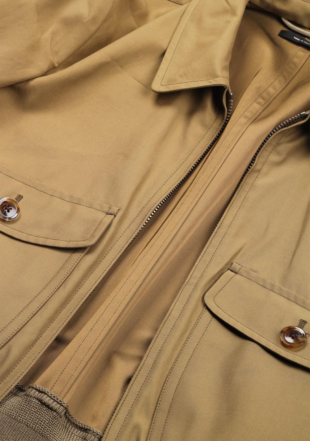 TOM FORD Brown Zipper Bomber Jack Size 48 / 38R U.S. | Costume Limité