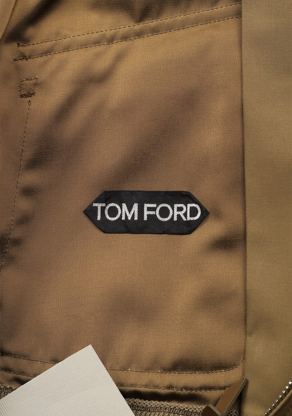 TOM FORD Brown Zipper Bomber Jack Size 48 / 38R U.S. | Costume Limité
