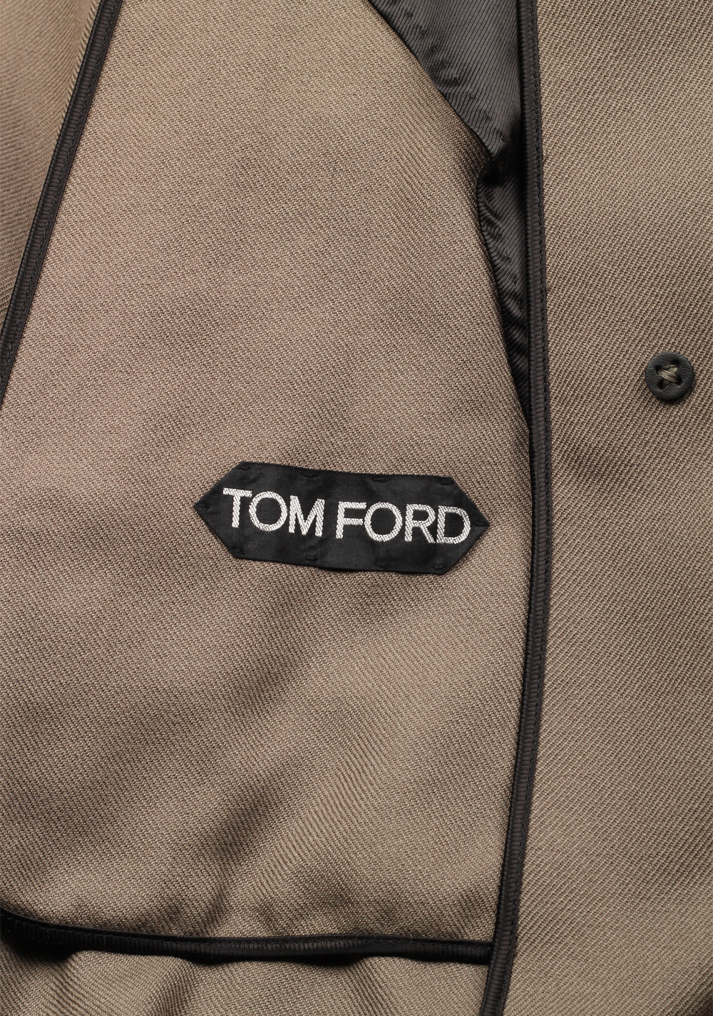 TOM FORD Taupe Rain Coat Size 48 / 38R U.S. Outerwear | Costume Limité