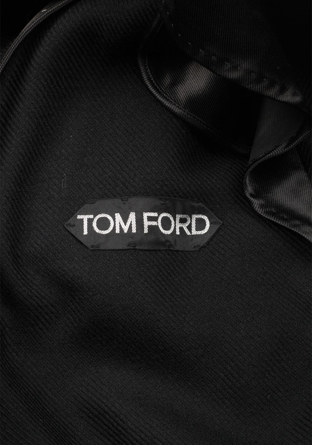 TOM FORD Black Over Coat Size 48 / 38R U.S. Outerwear | Costume Limité