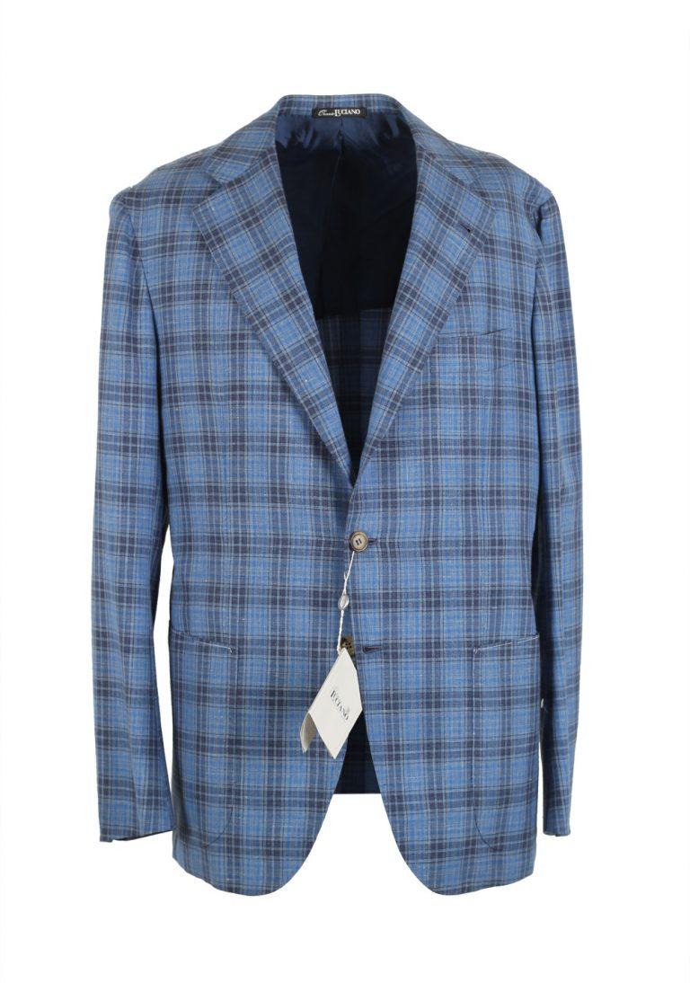 Orazio Luciano La Vera Sport Coat Size 54 / 44R U.S. Linen Silk - thumbnail | Costume Limité