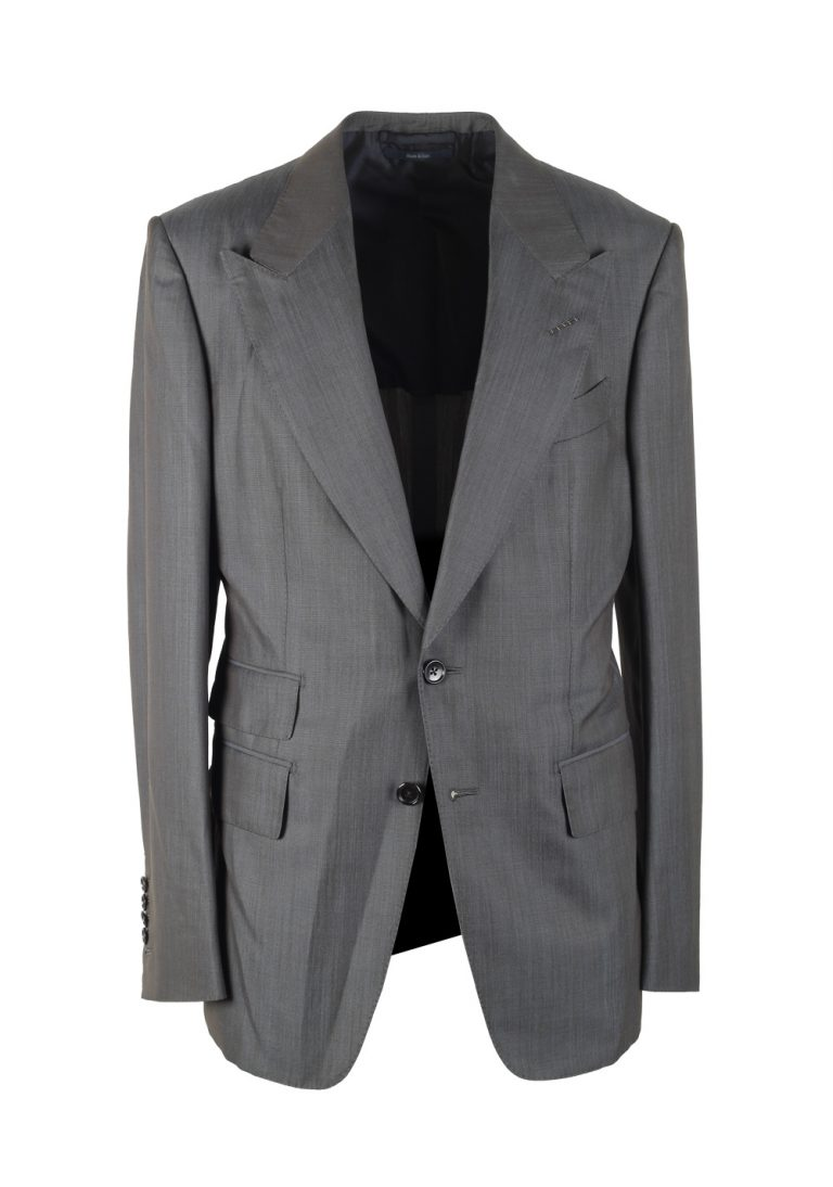 TOM FORD Shelton Gray Suit Size 48 / 38R U.S. In Wool Silk - thumbnail | Costume Limité