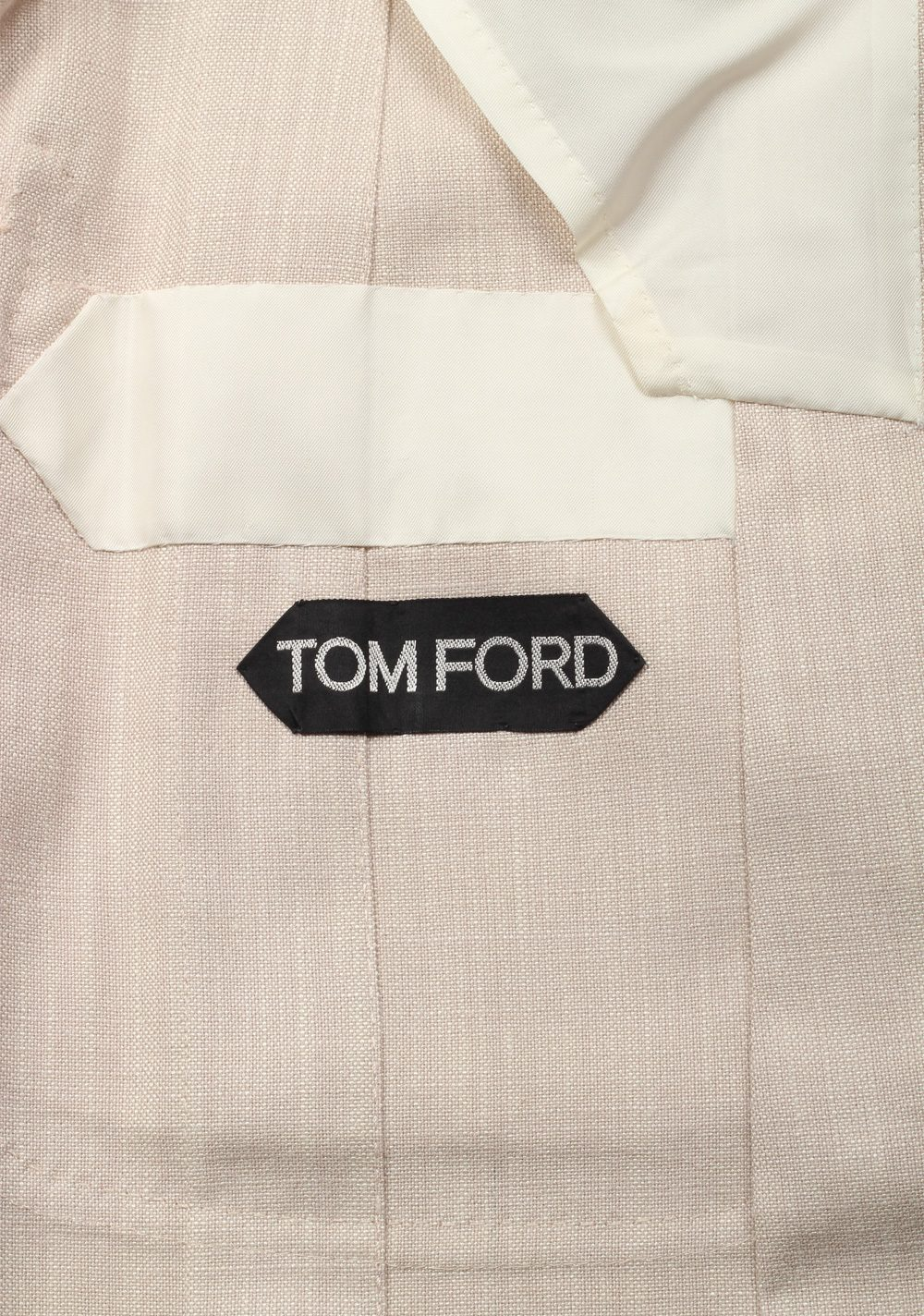 TOM FORD Shelton Beige  Size 48 / 38R U.S. In Silk | Costume Limité