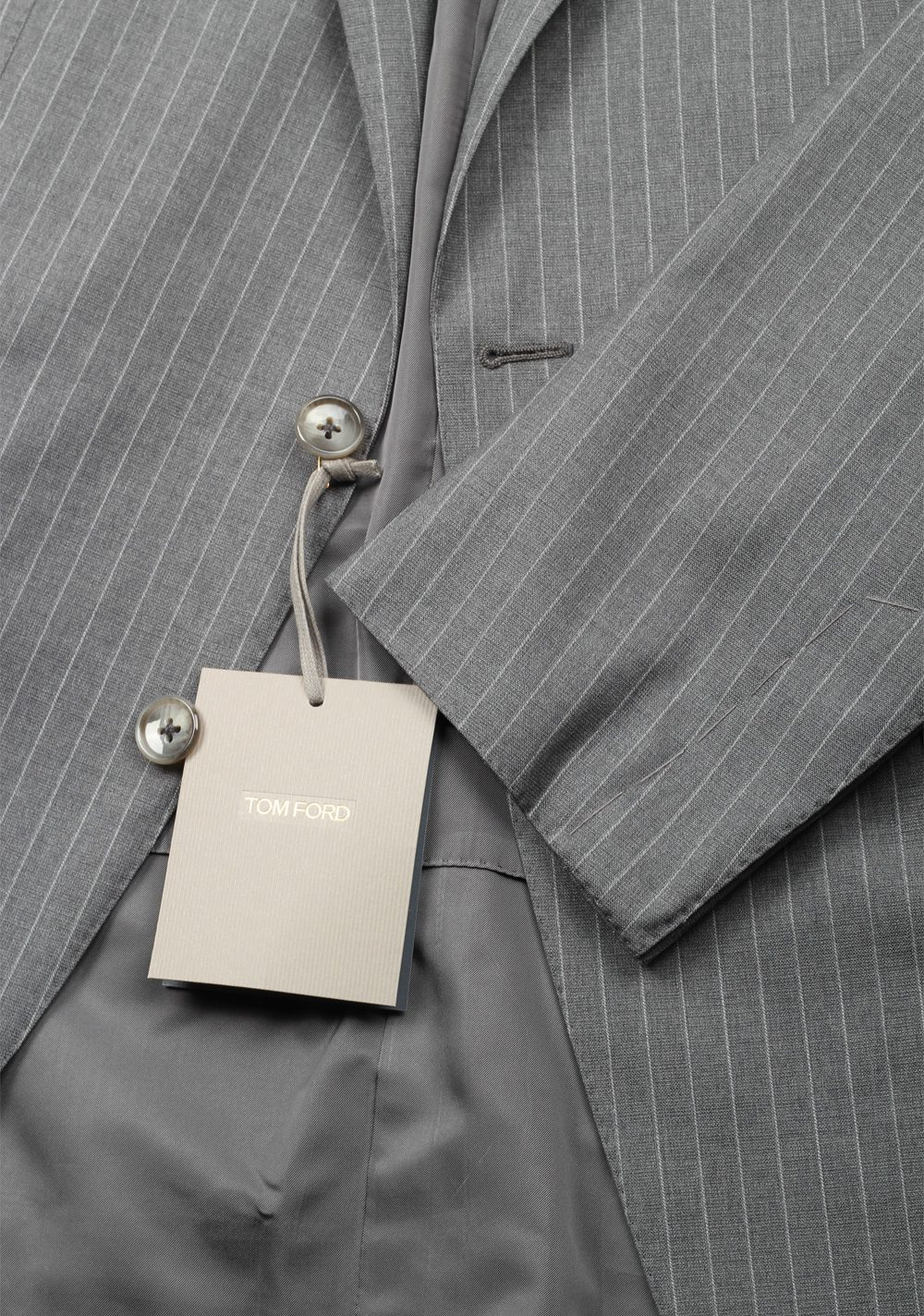 TOM FORD O'Connor Striped Gray Suit Size 50 / 40R U.S. In Wool | Costume Limité