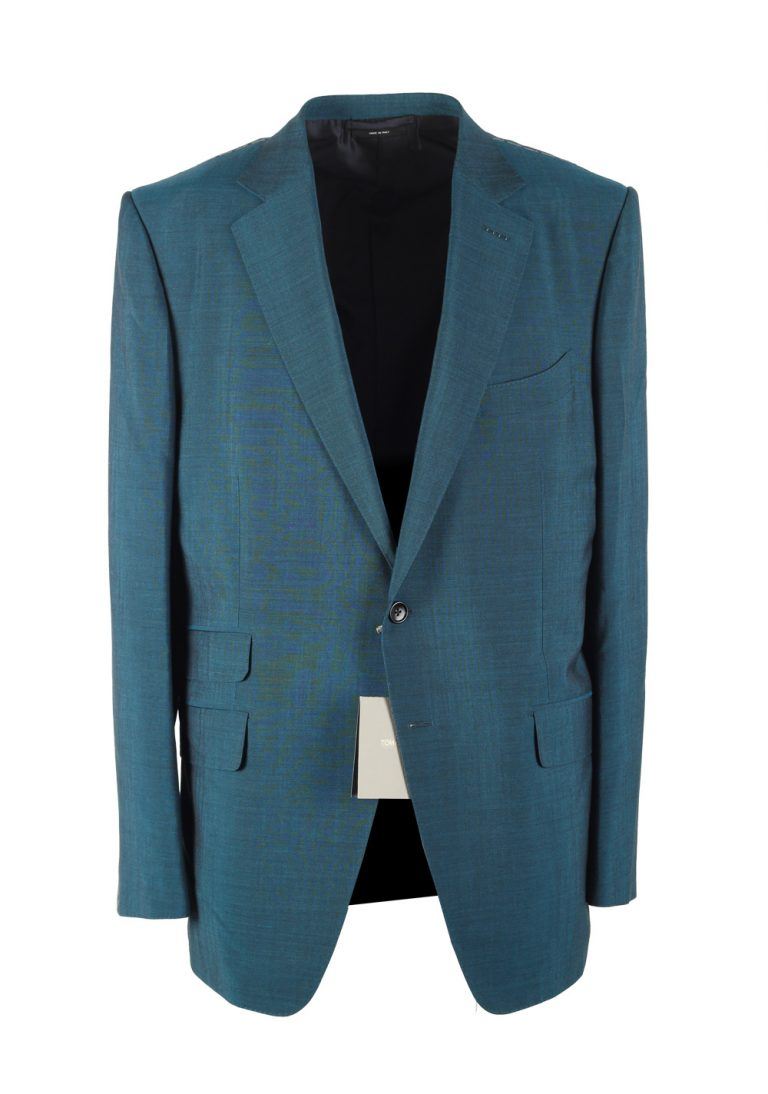 TOM FORD O'Connor Teal Suit Size 54 / 44R U.S. Wool Fit Y - thumbnail | Costume Limité