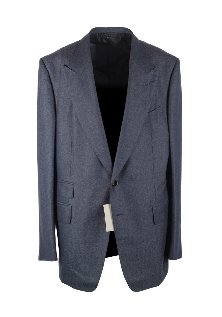 TOM FORD Shelton Blue Suit Size 58L / 48L U.S. In Wool Silk - thumbnail | Costume Limité