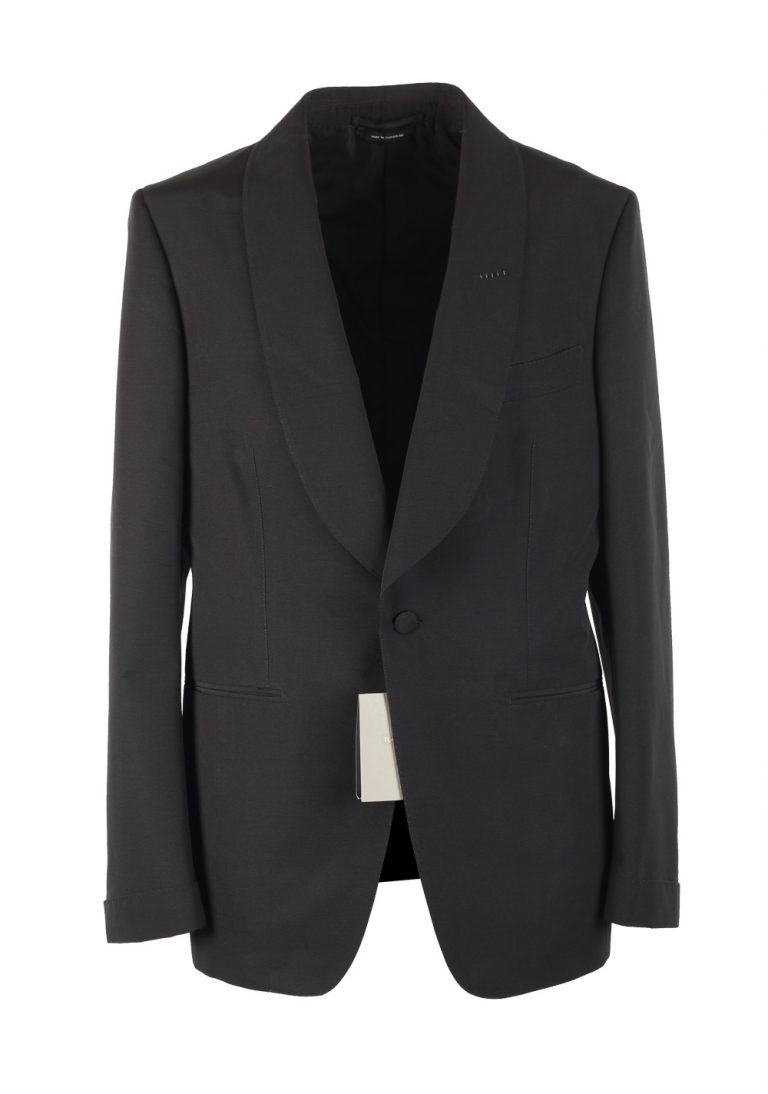 TOM FORD Shelton Black Shawl Collar Sport Coat Tuxedo Dinner Jacket Size 48 / 38R U.S. - thumbnail | Costume Limité