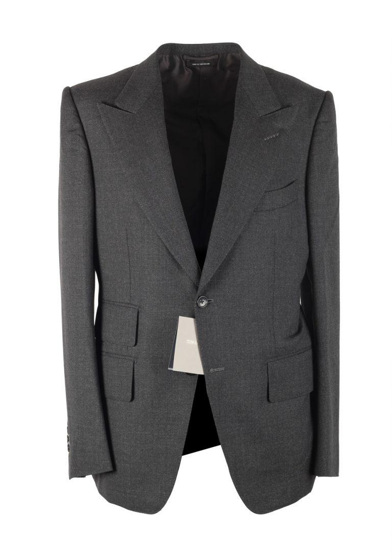 TOM FORD Windsor Gray Sport Coat Size 50 / 40R U.S. Fit A Wool - thumbnail | Costume Limité