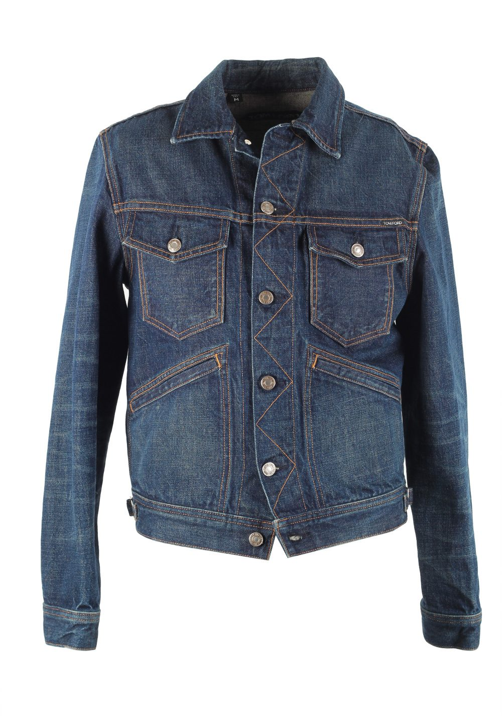TOM FORD Icon Japanese Denim Jacket Size M / 38R U.S. Outerwear | Costume Limité