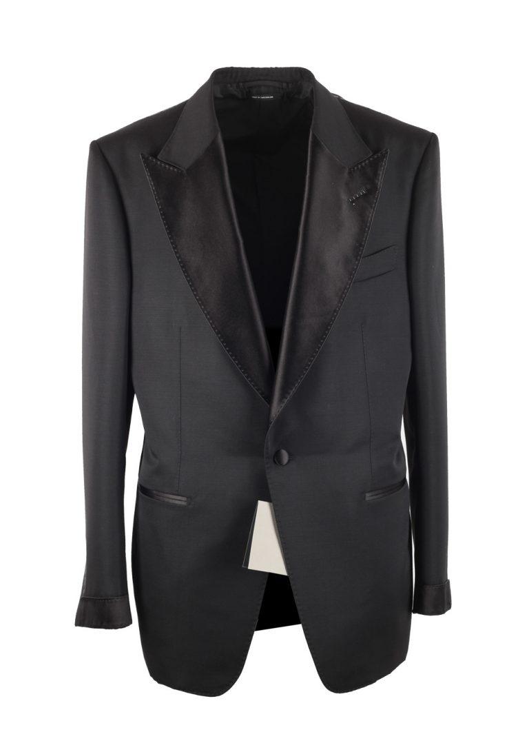 TOM FORD Atticus Black Tuxedo Smoking Suit Size 54 / 44R U.S. - thumbnail | Costume Limité