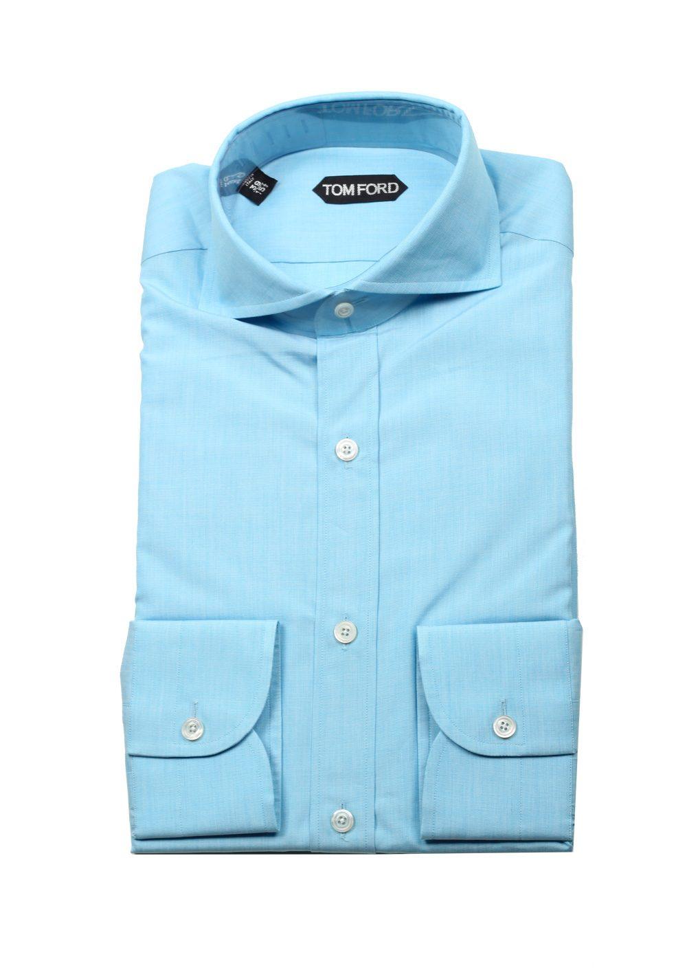 060bd02fb83 TOM FORD Solid Blue Dress Shirt Size 39   15