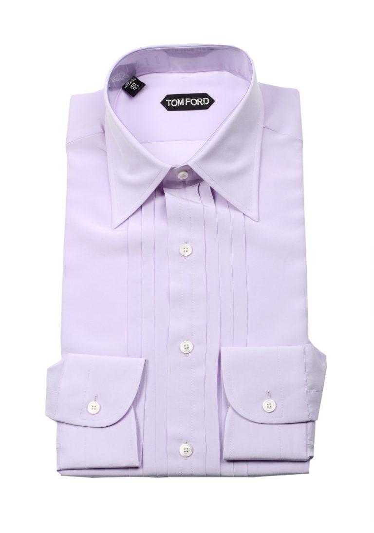 TOM FORD Solid Lilac Tuxedo Shirt Size 40 / 15,75 U.S. - thumbnail   Costume Limité