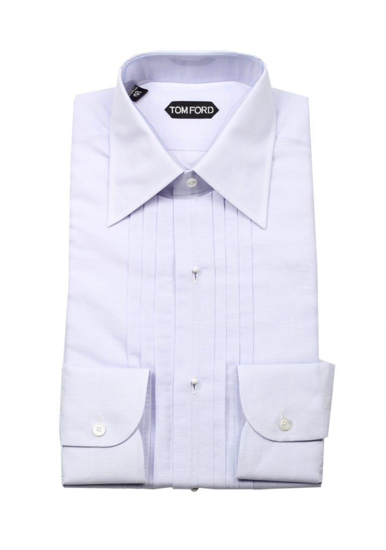 TOM FORD Solid Lilac Tuxedo Shirt Size 40 / 15,75 U.S. - thumbnail | Costume Limité