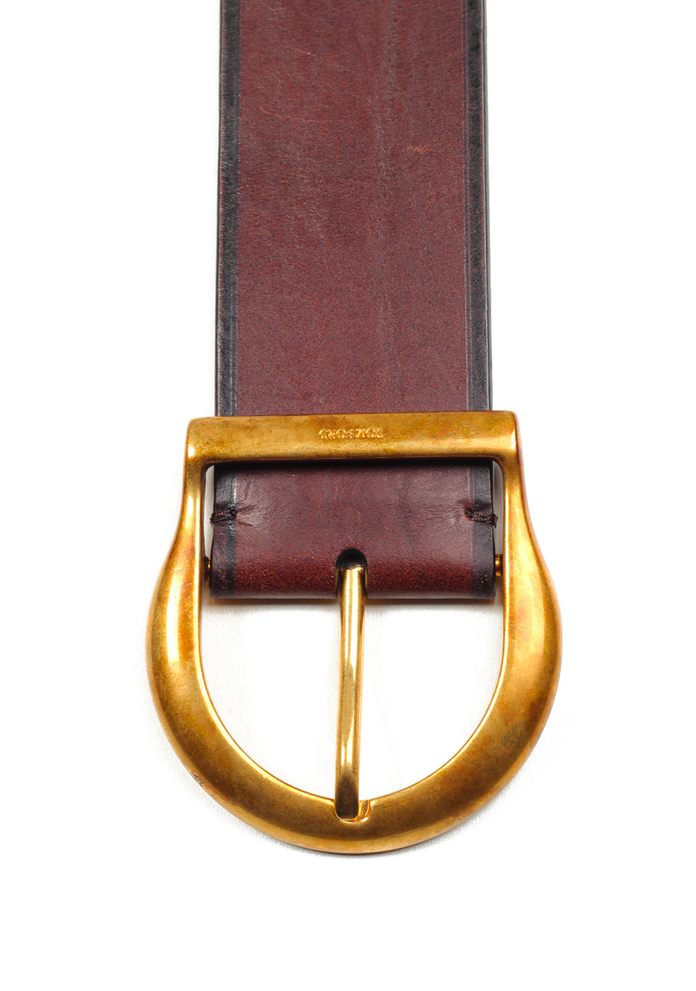 TOM FORD Brown Casual Brass Leather Belt Size 115 / 42 U.S. | Costume Limité