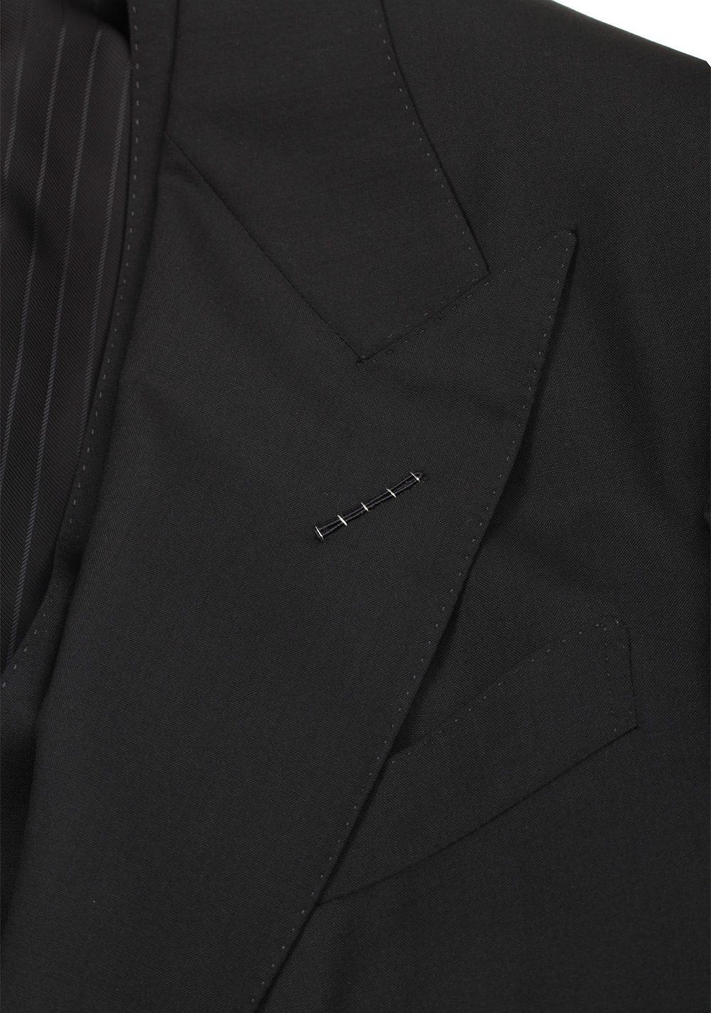 TOM FORD Shelton Black 3 Piece Suit Size 52 / 42R U.S. Wool | Costume Limité