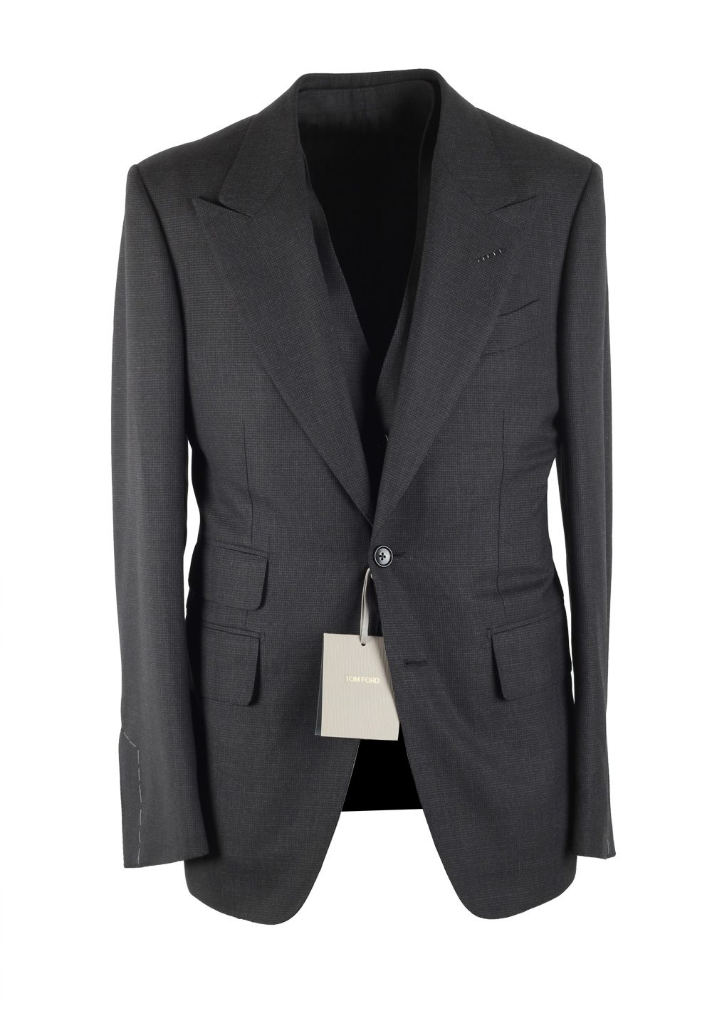 TOM FORD O'Connor Gray 3 Piece Suit Size 46C / 36S U.S. Wool Fit Y | Costume Limité